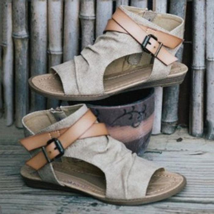 Fashion Fish Mouth Roman Sandals