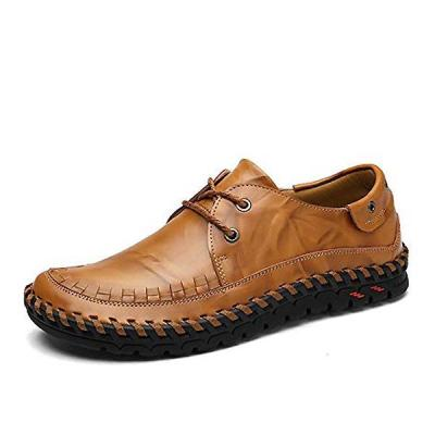 Mens Hand-Stitched Loafers Driving Shoes British Style Casual Shoes