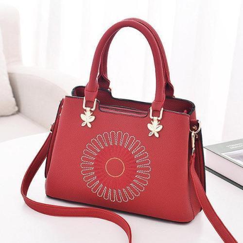Women Faux Leather Boston Handbag Tote Bag Crossbody Bag