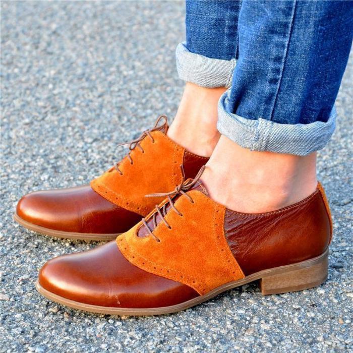 Duotone Stylish Leather Oxford Shoes