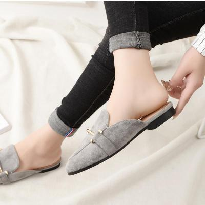 Spring and Autumn New Cool Slippers Women Retro Outside Mueller Shoes Sandals In Summer