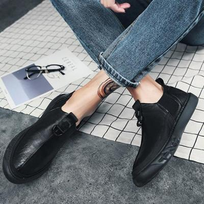 Mens Casual Soft Bottom Round Toe Flats Shoes