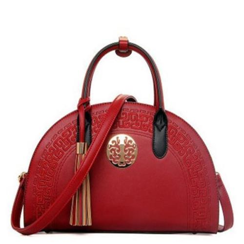 Vintage Shell Handbag PU Leather Shoulder Bag Crossbody Bag