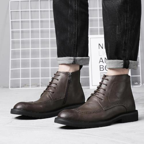 Casual Carve Patterns Martin Bullock Short Men Boots