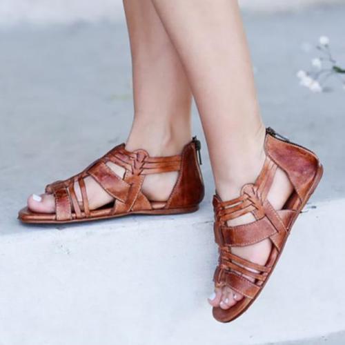 Hollow Women Peep Toe Gladiator Sandals