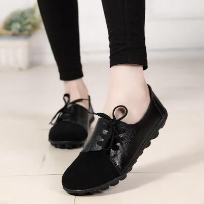 Flats Spring Fashion Comfort Genuine Leather Flat Shoes Woman Slip On Shoes
