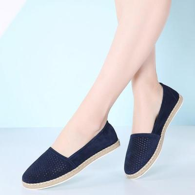 Women's leather loafers soft shoes casual non-slip driving flat shoes 127189