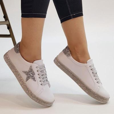 Shiny Rhinestone Casual Sneakers