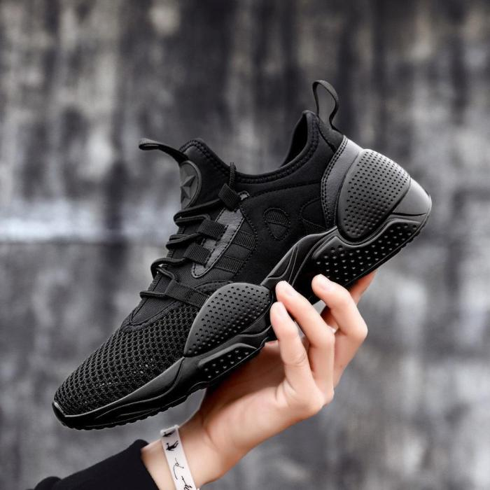 Men's Fashion Casual Sports Shoes Flying Woven Mesh Comfortable And Breathable