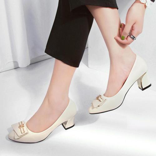 Spring/Summer Elegant Work Chunky Heel Shoes