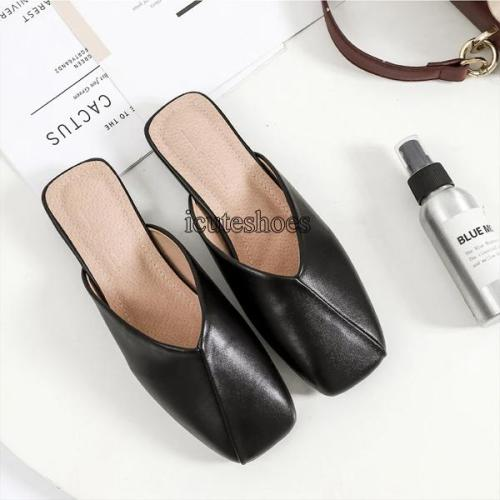 Spring and Summer New Flat Cozy Person Cool Slipper Lady Muller Shoes Wear Large Size