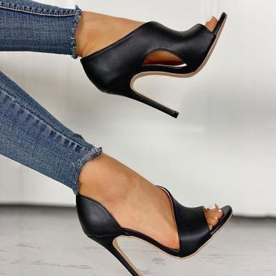 Peep Toe Thin Heeled Heels