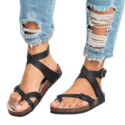 Ankle Strap Buckle Flip Flop Gladiator Thong Flat Sandals