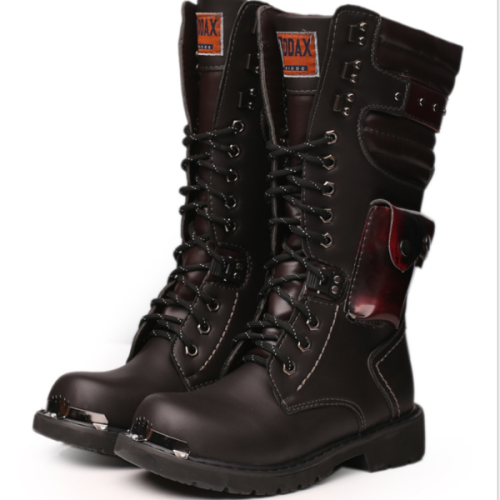 Men's high tube outdoor trend large size big scalp tooling boots
