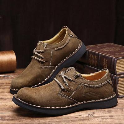 Mens Fashion Lace-up Martin Boots Round Toe Work Shoes