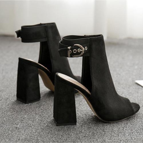 Sandals Fashion Elegant Sexy High Heels Sandals Black