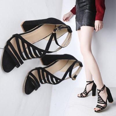 High Heels Shoes T-stage Transparent Sandals Gladiator Sexy Pump Female Cover Heel