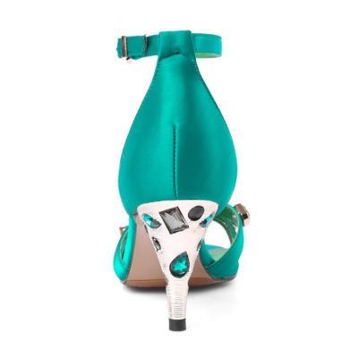 Adjustable Buckle Cone Heel Rivet Heels
