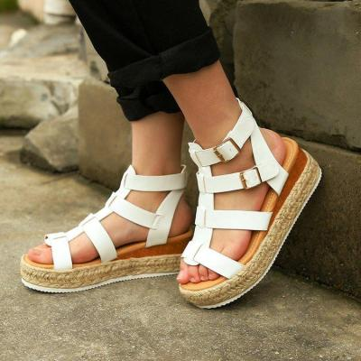 Large Size Women's Cross-border Sandals Women 2020 New Gladiator Sandals Style Women's Shoes