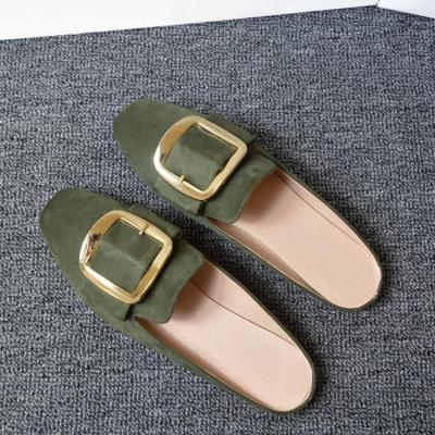 Spring New Flat Slippers Female Cozy Outside Wear Muller Casual Shoes In Summer