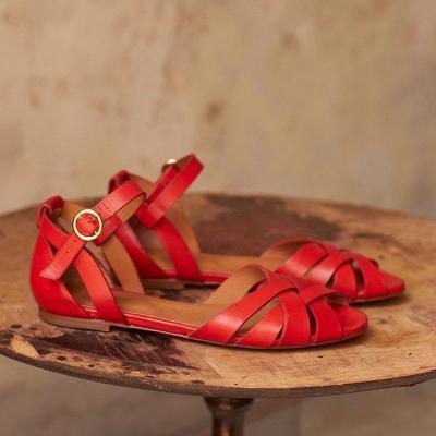 Interweave Peep Toe Hollow Summer Flat Sandals