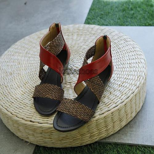 Cross-border Large Sandals Bohemian Women Sandals Retro Roman Shoes