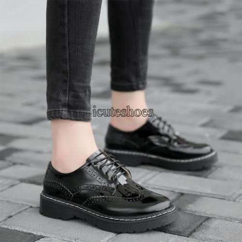 2020 New England Fringe Lace Retro Women's Shoes Round Head Flat Bottom Leather Shoes Women