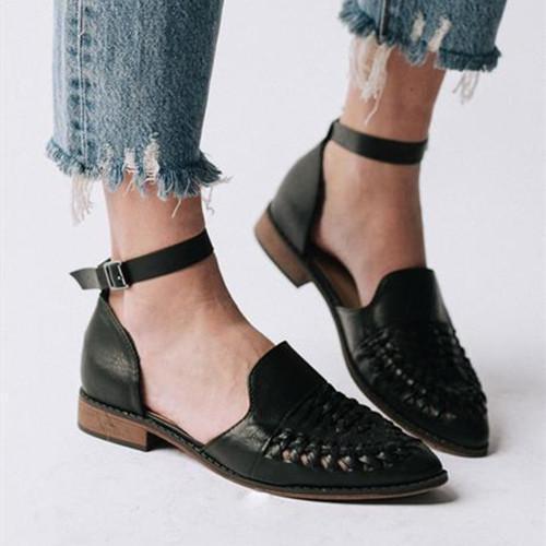 Women Casual Slip-On Low Heel Sandals