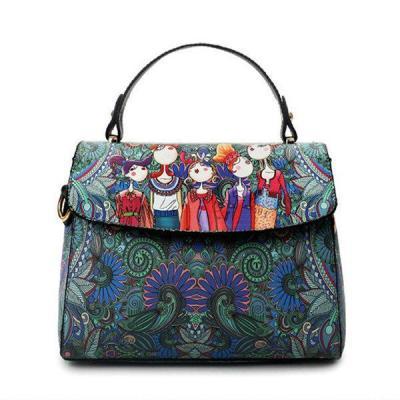PU Leather Green Cover Crossbody Bag Forest Series Handbag
