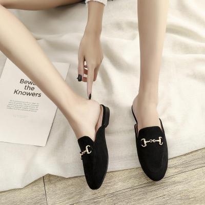 Flat Low Heel Sandals Women's Wearing Muller Shoes