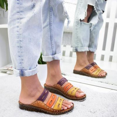 Casual Color Thick Bottom Slippers
