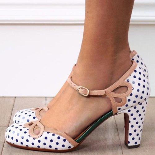 Printed Chunky Heel Elegant Sandals