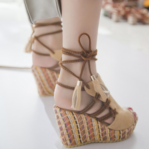 Women Wedge Heels Gladiator Sandals