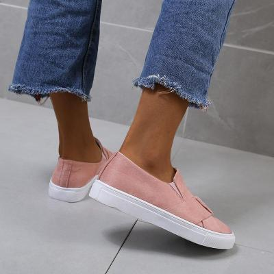 Women's Comfy Flat Heel Loafer Sneakers Casual Shoes