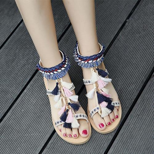 Bohemian Tassel Buckle Sandals