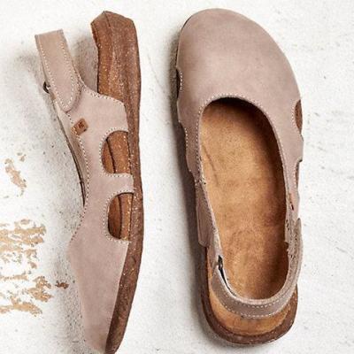 Summer Distress Square Toe Hollow Sandals