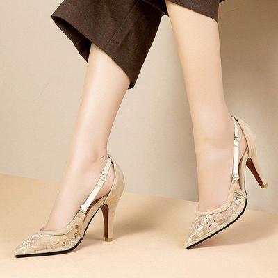 Date Mesh Stiletto Heel Heels