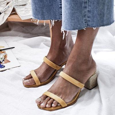 Women Summer Lace-up Casual  Chunky Sandals