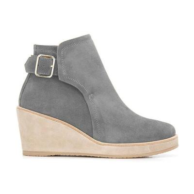 Women Plus Size Snow Wedged Ankle Boots