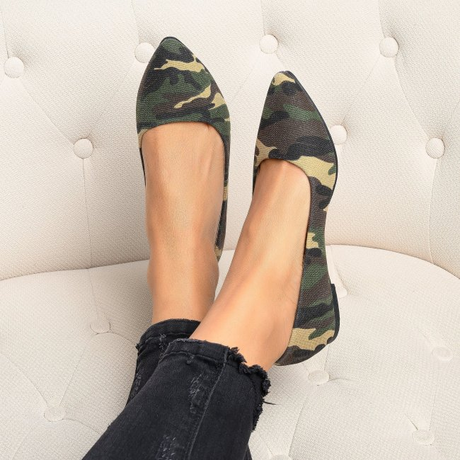 Angie Camouflage Ballet Flats