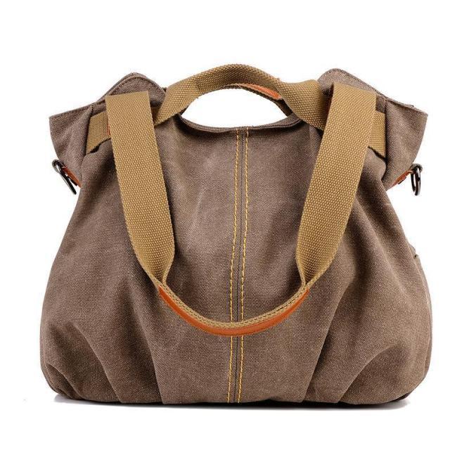 Women's Vintage Canvas Shoulder Bag Purse Top-Handle Hobo Tote Handbags Crossbody Shopping Bags