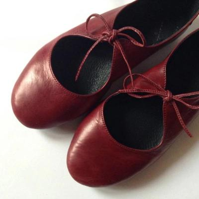 Pu Flat Round Toe Hollow Lace-Up Shoes