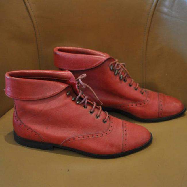 Turndown Opening Of Shoes Lace-Up Pu Ankle Boots
