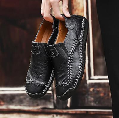 Plain Round Toe Men's Simple Shoes
