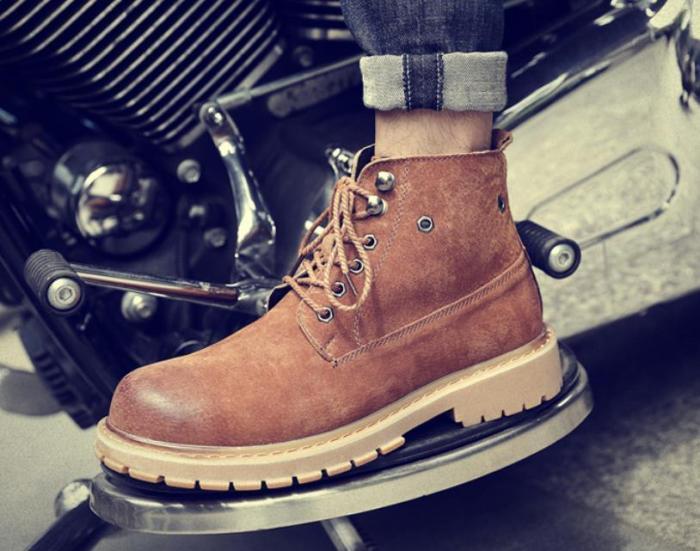 Casual retro style warm Martin   boots