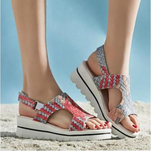 Peep Toe Casual Wedge Sandals