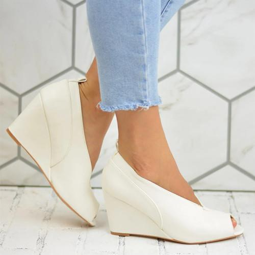 Fashion Vintage Wedge With PeopToe Sandals
