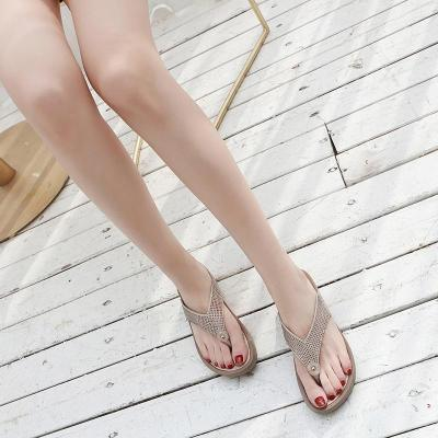 Rhinestone Casual Wedges Platforms Flip-Flop Sandals