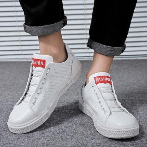 Men's Breathable Wild Trend White Casual Shoes Sneakers