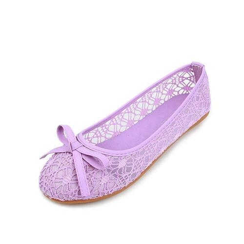 Women Loafers Lace Bow Decoration Lady Female Plus Size Flat Shoes
